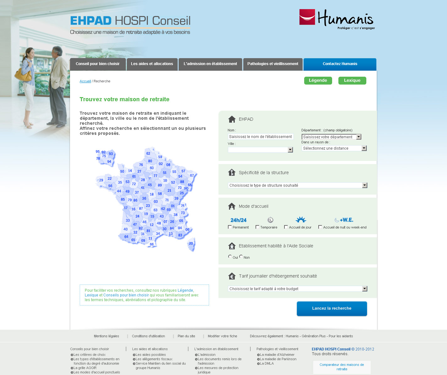 Comparateur Ehpad - Accueil
