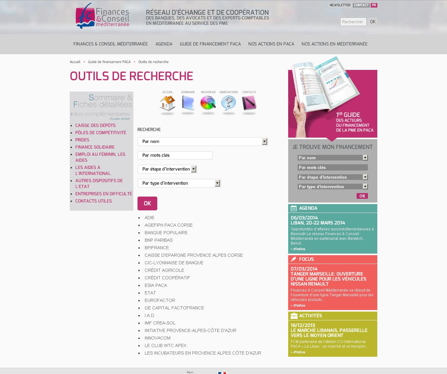 Finances Conseil Méditerranée - Guide de financement Paca