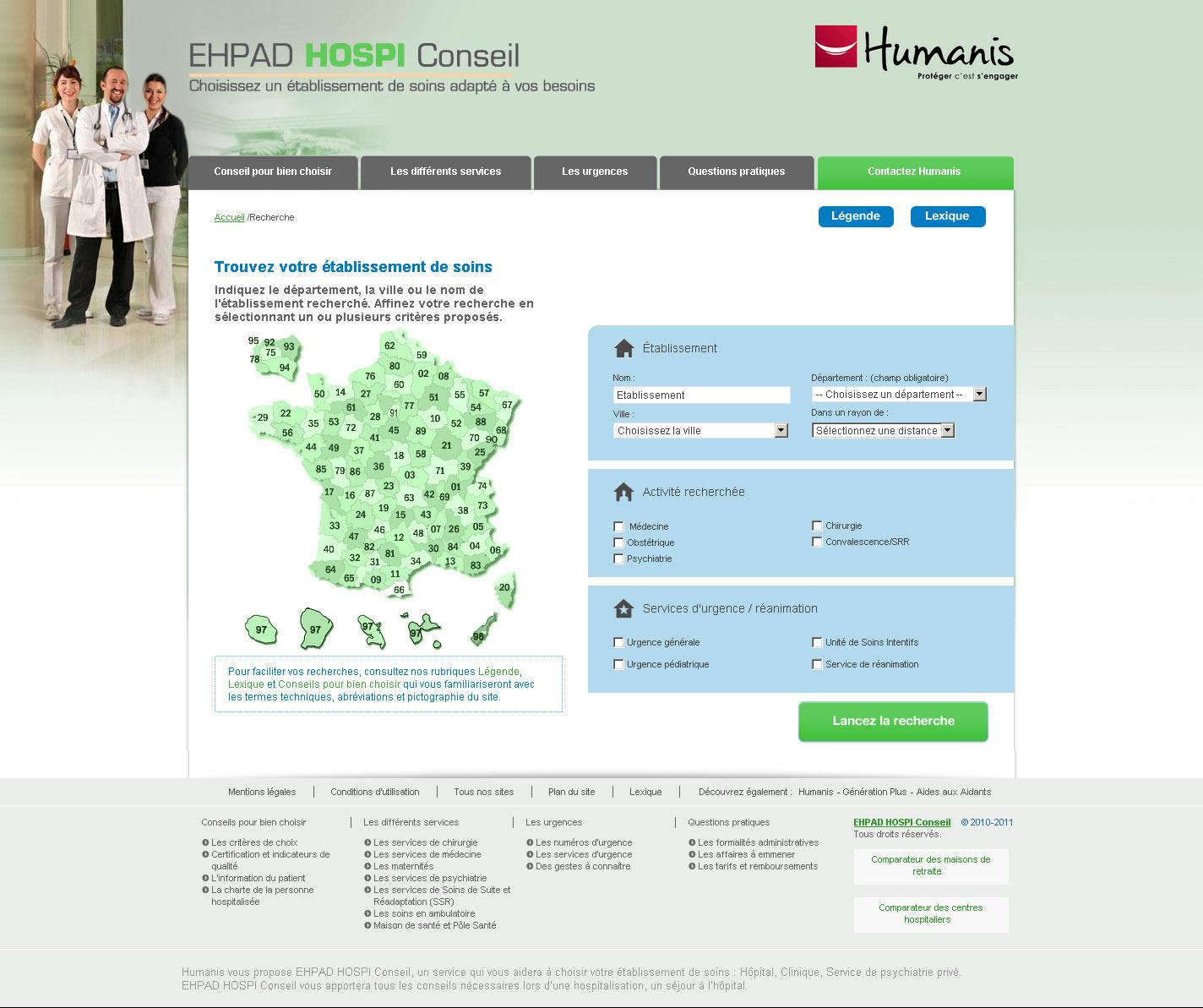 Comparateur d'hôpitaux - Accueil